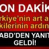 Türkiye'nin tepkisinin ardından ABD'den son dakika YPG açıklaması